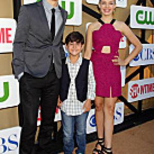 Sadie Calvano with Spencer Daniels and Blake Rosenthal at CBS TCA Party 2013