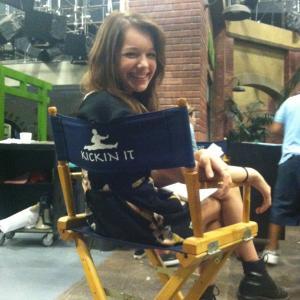 On Set of Kickin' It (July, 2012)