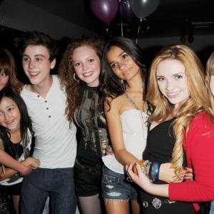 Sadie Calvano with Bella Thorne, Noah Cyrus, Pia Mia Perez, Kailey Swanson and Sterling Beaumon (at his birthday party)