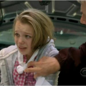 rescued by Ziva (Cote de Pablo) and Gibbs (Mark Harmon) on NCIS