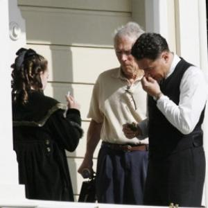 Sadie Calvano as J. Edgar's niece with Leonardo DiCapprio and Clint Eastwood