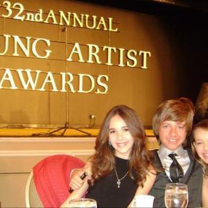 Sadie Calvano with Haley Pullos and Austin Coleman at YAA Awards banquet