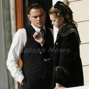 on the set of J. Edgar with Leonardo DiCaprio