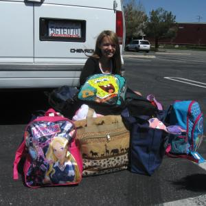 Donating comfort packs to Bags4Kids www.bags4kids.org