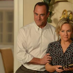 Still of Christopher Meloni and Rachael Harris in Surviving Jack (2014)