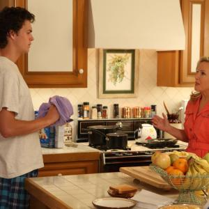 Still of Rachael Harris and Connor Buckley in Surviving Jack (2014)
