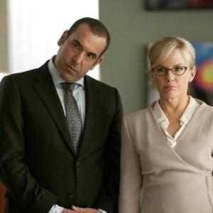 Still of Rachael Harris and Rick Hoffman in Suits (2011)
