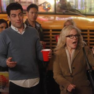 Still of Rachael Harris and Max Greenfield in New Girl (2011)