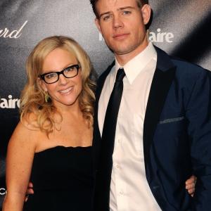 Rachael Harris and Trevor Donovan