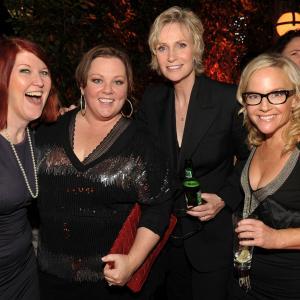 Rachael Harris, Kate Flannery, Jane Lynch and Melissa McCarthy