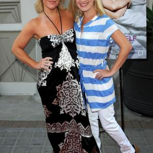 Rachael Harris and Angela Kinsey at event of A Little Help (2010)