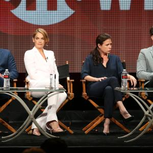 Joshua Jackson, Maura Tierney, Dominic West and Ruth Wilson at event of The Affair (2014)