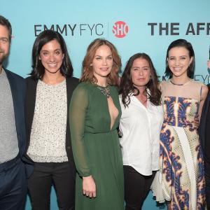 Joshua Jackson, Maura Tierney, Jeffrey Reiner, Ruth Wilson, Sarah Treem and Julia Goldani Telles at event of The Affair (2014)