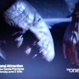 Screen Capture from TV ONEs show Fatal Attraction where I play Derrick Yancey Tv One TV CAPTION