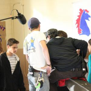 On set of Hello Herman