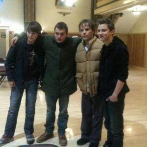 Garrett with Emile Hirsch and Stephen Dorff