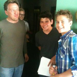 Taping of Chadley Bales, Garrett Backstrom with Director Joe Toppe and cast member George Fraiser.
