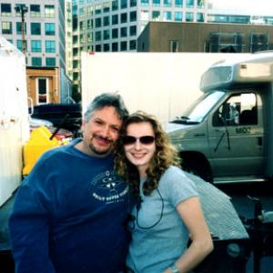 Harvey Fierstein and Assistant Director Agnieszka Poninska on the set of Death to Smoochy