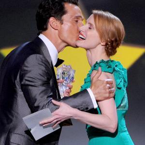 Matthew McConaughey and Jessica Chastain