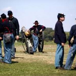 Civil War Reenactments North Regiment Captain Valiant