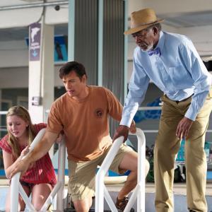Still of Morgan Freeman, Harry Connick Jr. and Cozi Zuehlsdorff in Dolphin Tale 2 (2014)