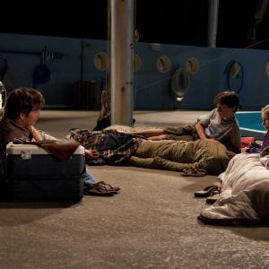 Still of Harry Connick Jr., Nathan Gamble and Cozi Zuehlsdorff in Dolphin Tale (2011)