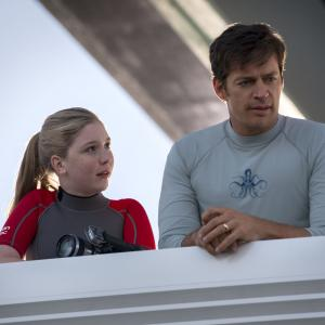 Still of Harry Connick Jr. and Cozi Zuehlsdorff in Dolphin Tale 2 (2014)