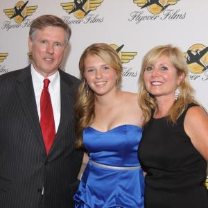 Emily with mom and dad at the premiere of Doughboy