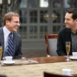 Still of Steve Carell and Paul Rudd in Dinner for Schmucks 2010