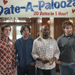 Still of Steve Carell Romany Malco Seth Rogen and Paul Rudd in The 40 Year Old Virgin 2005