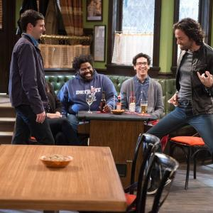 Still of Chris D'Elia, Ron Funches, Brent Morin and Rick Glassman in Undateable (2014)