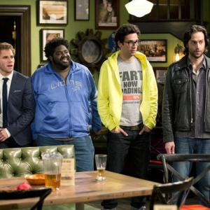 Still of Chris D'Elia, Matthew Wilkas, Ron Funches and Rick Glassman in Undateable (2014)