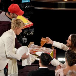 Ellen DeGeneres and Jared Leto at event of The Oscars 2014