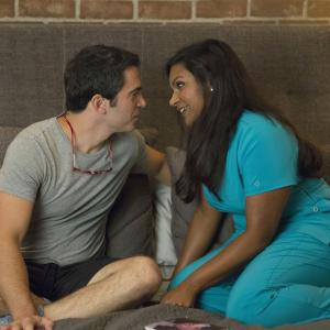 Still of Chris Messina and Mindy Kaling in The Mindy Project (2012)