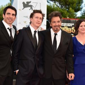 Al Pacino, David Gordon Green, Chris Messina and Lisa Muskat at event of Manglehorn (2014)