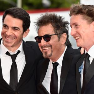 Al Pacino, David Gordon Green and Chris Messina at event of Manglehorn (2014)