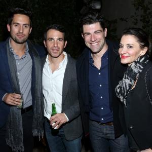 Max Greenfield, Chris Messina, Tess Sanchez and Ed Weeks