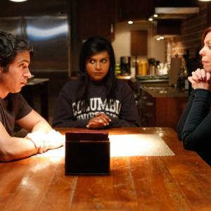Still of Chris Messina, Mindy Kaling and Sarah Burns in The Mindy Project (2012)
