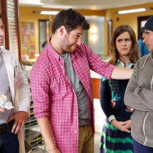 Still of Chris Messina, Adam Pally, Mindy Kaling and Zoe Jarman in The Mindy Project (2012)