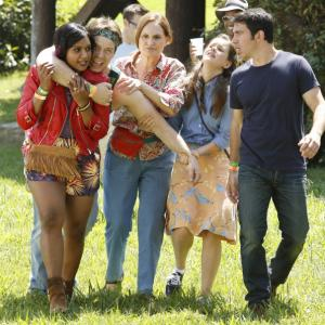 Still of Ike Barinholtz, Beth Grant, Chris Messina, Mindy Kaling and Zoe Jarman in The Mindy Project (2012)
