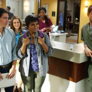Still of Ike Barinholtz, Chris Messina and Mindy Kaling in The Mindy Project (2012)