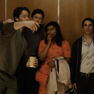 Still of Ike Barinholtz, Chris Messina, Mindy Kaling and Ed Weeks in The Mindy Project (2012)