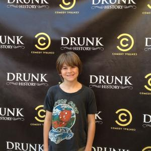 Aidan at the red carpet premiere of Drunk History