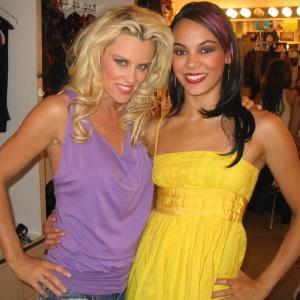 Backstage with Jenny McCarthy after she performed with the cast & me in the Sirens of T.I. show as a guest