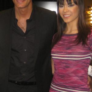 Backstage after runway show with host Nigel Barker, fashion photographer & judge on