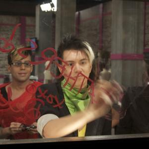 Still of Gabriel Burgos Ortiz, Alexis Mateo, Karl Westerberg and Carmen Carrera in RuPaul's Drag Race (2009)