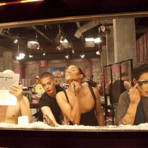 Still of Gabriel Burgos Ortiz, Carmen Carrera and Elijah Kelly in RuPaul's Drag Race (2009)