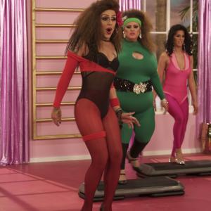 Still of Gabriel Villarreal, Gabriel Burgos Ortiz and Carmen Carrera in RuPaul's Drag Race (2009)