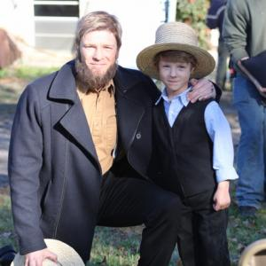 Wyatt with Burgess Jenkins who plays his father in The Shunning.