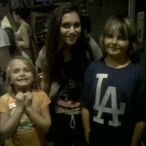 Craig with Alyson Stoner and Reagan Shippey